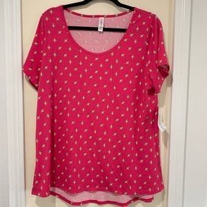 New with tags XL pink classic tee by LuLaRoe